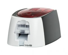 Evolis Badgy200 Single Sided Card printer, 1 Color Ribbon (100 prints), 100 Cards, Software